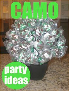 Camouflage Party Ideas.  Great ideas for a hunting or army party.  Celebrate with these camo ideas for an awesome boy party.