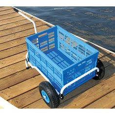 Never wait or search for a again! With your own collapsible cart, it's always there when you're ready for it! Taylor Made Collapsible Dock Cart Pvc Pipe Crafts, Pvc Pipe Projects, Bayliner Boats, Pvc Furniture, Milk Crate Furniture, Fishing Cart, Beach Cart, Beach Hacks, Kayak Accessories