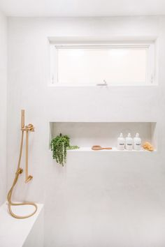 Bathroom Renovation Tips from a Designer Who Perfected Her Gut Remodel white bathroom shower remodel Vintage Modern, Mid-century Modern, Layout Design, Wood Shelving Units, Pretty Room, Shower Remodel, Remodel Bathroom, Shower Floor, Shower Recess