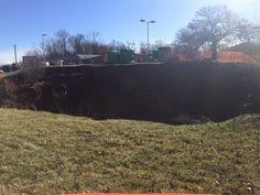 02/04/2016 - Anderson Township, Ohio - Plant shop faces massive sinkhole -- again.