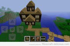 Minecraft house in minecraft pocket edition