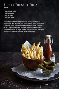 Big Bad Brutus Burgers With Sides (recipes for burgers, buns, catsup, pickles, and fries!)