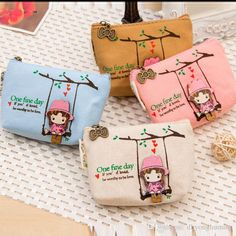 New Vintage Canvas Bag Coin Keychain Keys Wallet Change Pocket Holder Organize Cosmetic Makeup Sorter Cheap Bags Bags For Women From Dhyonghuming, $1.49| Dhgate.Com