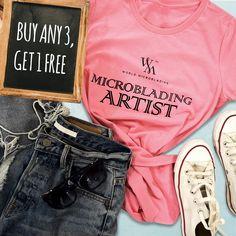 World Microblading - America's Microblading Academy Training School, Hustle, Brows, Bright, Templates, Creative, Board, T Shirt, Women