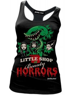 """Women's """"Little Shop of Beauty"""" Tank by Pinky Star (Black) - Women's Clothing Cool Outfits, Fashion Outfits, Fasion, Women's Fashion, All Black Dresses, Gothic Outfits, Punk Outfits, Indie Outfits, Pink Stars"""