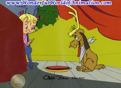Grinch Clip Art | Production cel of Cindy Lou Who and Max from the Grinch.