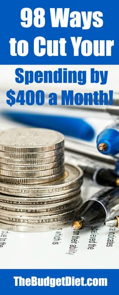 98 Ways to Cut Your Spending by $400 a Month!   How To Save A Lot Of Money with These Simple Tips and Ideas.
