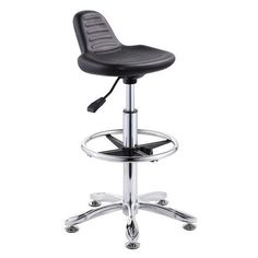 durable laboratory computer lab chairs staff operator stool cashier seats no wheels / modern desk chair / China Foshan ergonomic office chair, computer seating manufacturer