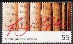 Death Bicentenary of Friedrich Schiller Friedrich Von Schiller, German Stamps, Going Postal, Do Love, Stamp Collecting, Love Book, Postage Stamps, Germany, Librarians