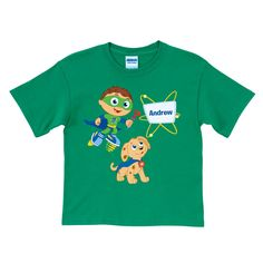 The Official PBS KIDS Shop | Super Why! & Woofster Bark-a-rooney! Green T-Shirt