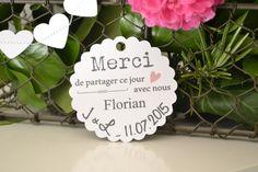 10 Marque-places papier Mariage dragées - Etiquettes - personnalisées -sur commande - décoration table - Cérémonie - rétro-vintage-campagne-original-tendance