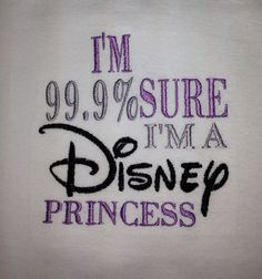 I'm 99.9% Sure I'm a Disney Princess Ruffle Sleeve T-shirt on Etsy, $20.00