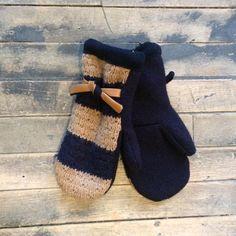 Textura Striped Wool Mittens - Bella Funk Boutique