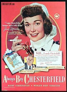 Jane Wyman for Chesterfield Cigarettes
