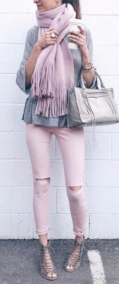 mixing blush with grey the most adorable color combo