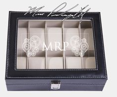 Personalize This Watch Box With Your Name, Initials, Monogram