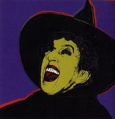 Wizard of Oz Wicked Witch pop art by Andy Warhol