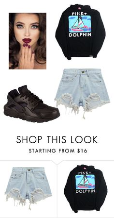 """""""Pink+Dolphin 🐬"""" by slacker124 ❤ liked on Polyvore featuring Chicnova Fashion and NIKE"""
