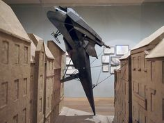 """the """"Lebbeus Woods, Architect"""" exhibition at The Drawing Center."""
