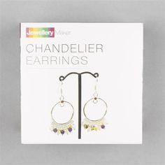 Silver Plated Copper Chandelier Earrings Project Kit Inc. Instructions (Approx 90Pcs)