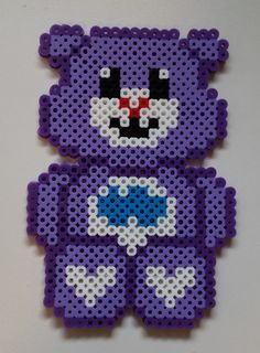 Grumpy Bear - Perler Care Bear by Joanne Schiavoni