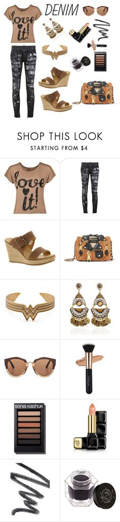 """Untitled #443"" by siriusfunbysheila1954 ❤ liked on Polyvore featuring WearAll, Dsquared2, Timberland, Moschino, Marni, Guerlain, Chantecaille and Rituel de Fille"