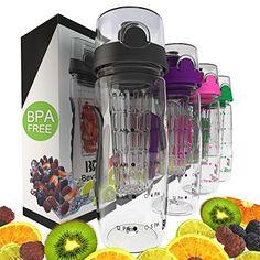 Bevgo Fruit Infuser Water Bottle - Large 1 Litre - Interg…