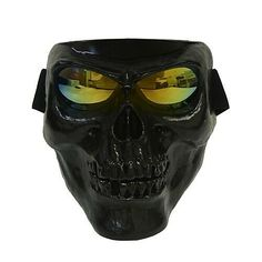 f7c4a66823ed9 Plastic Halloween Protective Skull Skeleton Mask Outdoor Full Face  fashion   clothing  shoes