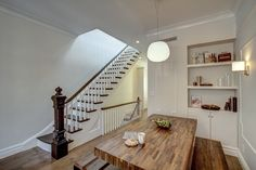 Ben Herzog Architect - Park Slope Narrow Townhouse Stairs and Dining Room