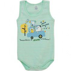 Body Regata para Bebê Menino Amigos - Patimini