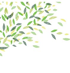 Green leaves background vector 1008006 - by pashabo on VectorStock®