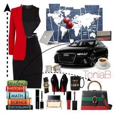 """""""#TheExecutiveStyle"""" by itstoniab on Polyvore featuring Morgan, Maison Margiela, Barbara Bui, Givenchy, Kate Spade, Tory Burch, Smashbox, Christian Louboutin, FEV and Speck"""