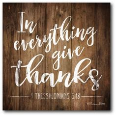 "Courtside Market ""in Everything Give Thanks"" 16"" Square Canvas Wall Art Multi"