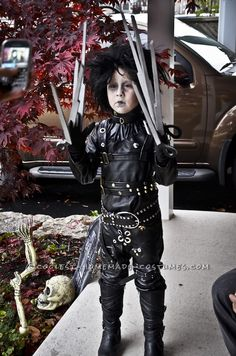 Epic Homemade Edward Scissorhands Halloween Costume for a Boy... This website is the Pinterest of costumes