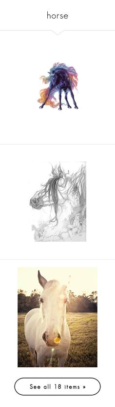 """horse"" by lalama-lalama ❤ liked on Polyvore featuring animals, horse, howrse, sketches, art, drawings, backgrounds, home, home decor and wall art"