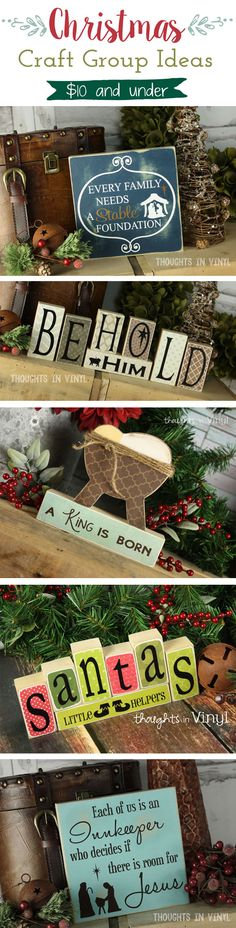 Christmas Wood Crafts |  Girls Night out or Craft Group Ideas!  So cute!