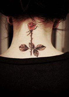 Cute Rose Tattoo Deisgn for Girl