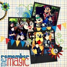 Disney scrapbook page by disneyfreak