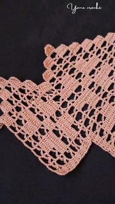 Crochet Table Runner Pattern, Crochet Edging Patterns, Crochet Lace Edging, Crochet Borders, Crochet Tablecloth, Crochet Designs, Crochet Flowers, Filet Crochet, Crochet Cord
