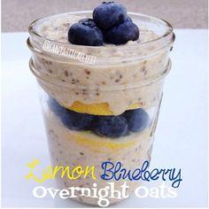 Vegan Lemon Blueberry Overnight Oats