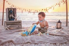 Beach cake smash #londonpylephotography naples fl, marco island fl, one year old, first birthday