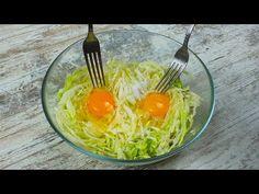 Капуста и 2 яйца Вкусный ужин из простых ингредиентов Так КАПУСТУ вы еще НЕ ГОТОВИЛИ! - YouTube Sugar Paste Flowers, What To Cook, Spaghetti, Eggs, Food And Drink, Salad, Healthy Recipes, Vegetables, Breakfast