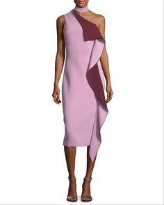 Silk Midi Dress, Knit Dress, Night Gown Dress, Prom Dress, Red Carpet Fashion, Cute Fashion, African Fashion, One Shoulder, Shoulder Dress