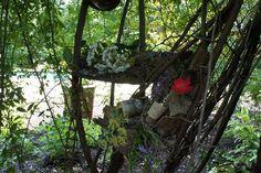 """Environmental Art/Fairy House...""""royal palace close-up"""""""