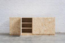 Atelier Antipode | Shoe closet in OSB