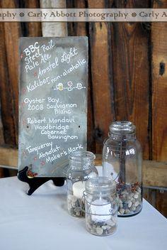 Slate Signage + Mason Jar Candles