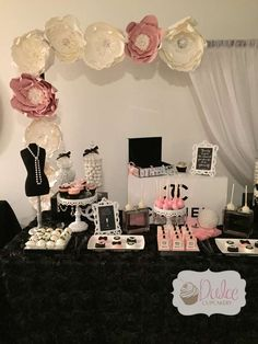 COCO Chanel Inspired Birthday Party Decorations