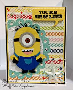 Happy Scrapper: Created using Pretty Paper, Pretty Ribbons Minions Cutting Files and My Creative Time stamps