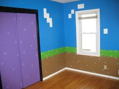 Post with 2848 votes and 182248 views. Shared by baconwater. My daughter's Minecraft inspired bedroom! Bedroom Themes, Kids Bedroom, Bedroom Decor, Bedroom Ideas, Gamer Bedroom, Minecraft Room, Minecraft Party, Room Paint, New Room