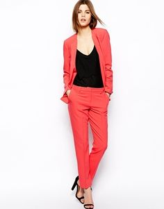 Image 4 ofASOS Blazer In Crepe With Vent Side
